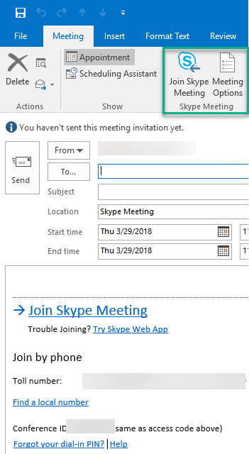 meeting skype for business