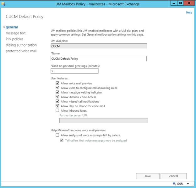How to setup CUCM 10 5 for Exchange 2013 Unified Messaging Voicemail
