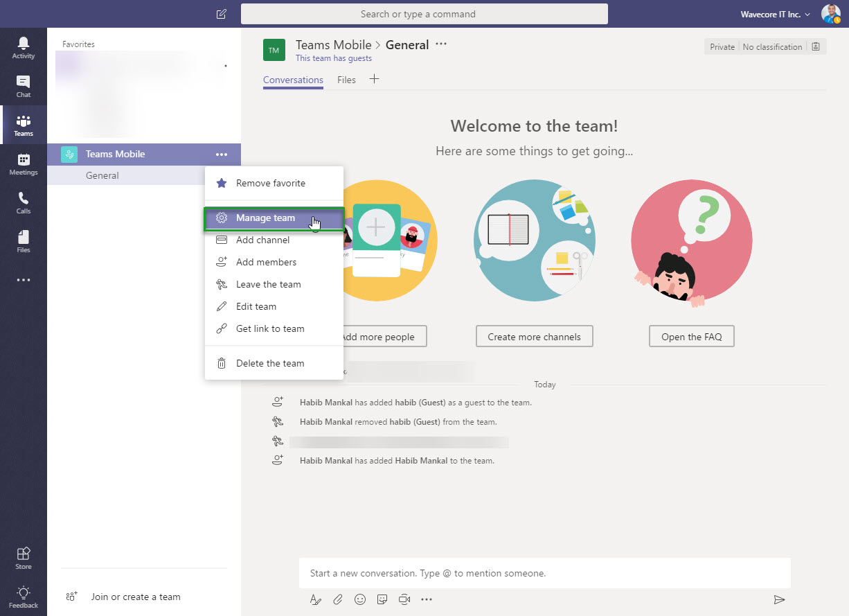 Removing a Microsoft Teams Guess Access User from a Team