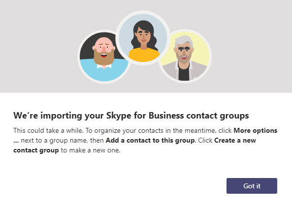 Skype for Business contacts to Microsoft Teams not importing
